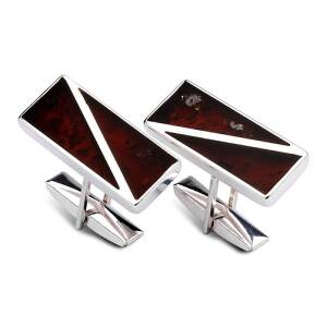 Middle Size Rectangle Cuff Link