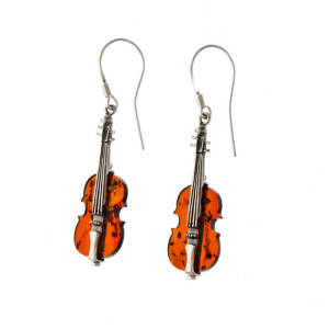 Very Small Violin Earrings