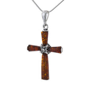 Silver and Amber Cross