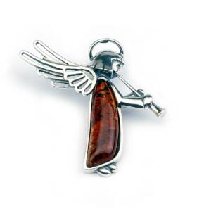 Angel With Amber Pendant